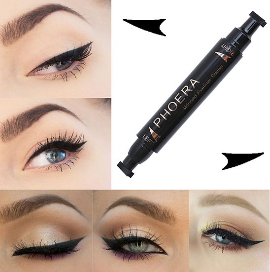 Gilmore Beauty - PHOERA Double End Seal Eyes Liner Black Liquid Make Up Pencil Waterproof