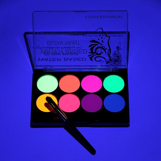 גילמור ביוטי - פלטה 8 צבעי מים ניאון לאיפור גוף ופנים