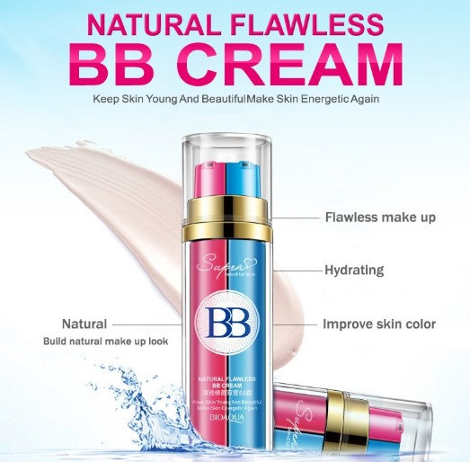 Gilmore Beauty - BIOAQUA New Arrival BB cream new design Pink and blue double tubes BB cream Perfect Cover Blemish Makeup Cos