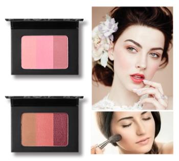 UCANBE 3 In 1 Mineral Blush Makeup Palette  מיקס שלושה סמקים מטריפים לשימוש בנפרד או ביחד, מעולה גם כצלליות.  מכיל ויטמין E ועמיד לאורך שעות רבות.