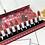 אריזת   12 שפתונים בצבעים חמים עשירים בלחות של מק - גילמור ביוטי