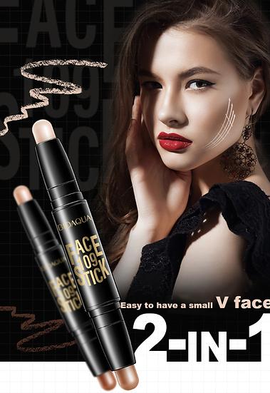 Gilmore Beauty - BIOAQUA Concealer Pen Double Head 3D Face Makeup Bronzer Highlighter Stick