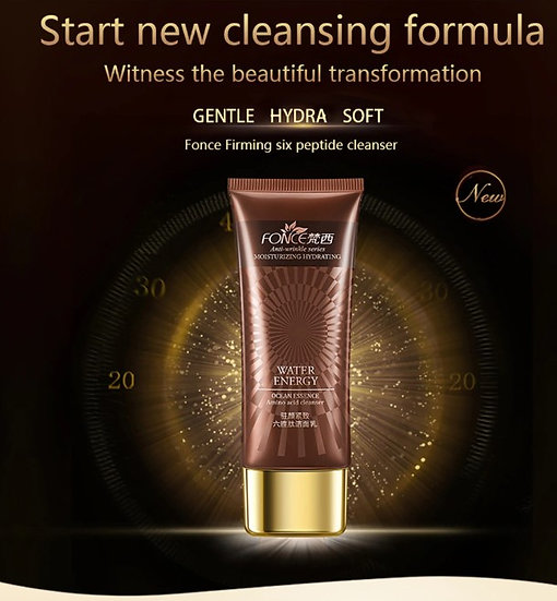 Gilmore Beauty - FONCE Six peptides Essence Facial Cleanser Women Anti Aging Face Firming Shrink Pores Moisturizing Deep