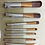 Gilmore Beauty - NAKED5 7Pcs quality punid base wooden cosmetic brushes!!! סט 7 מברשות נייקד 5