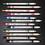 גילמור ביוטי - MENOW - אריזת 12 עפרונות אייליינר מטאליים במרקם רך ועמיד לעיניים