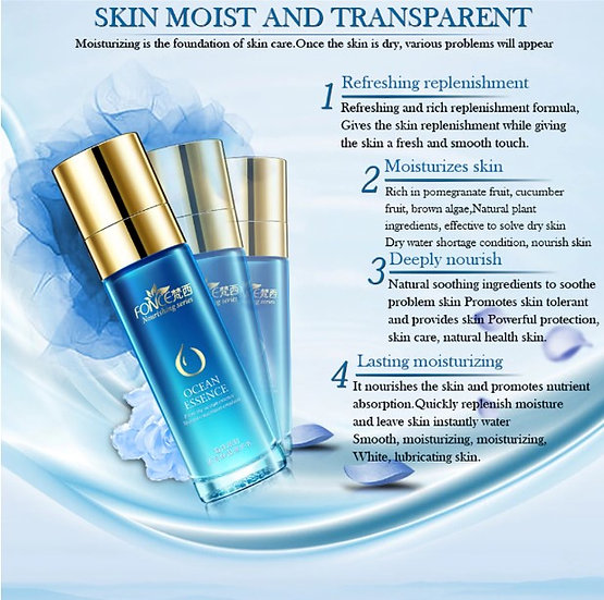 Gilmore Beauty - Fonce Ocean Plant extracts Moisturizing Face Lotion Serum Women Oil-control Nourish Skin Facial Care Refresh