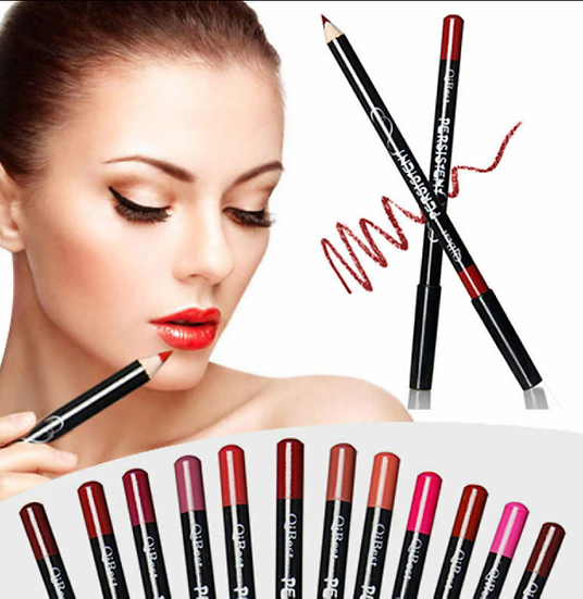 Gilmore beauty - Qibest The Best Pencil For a Perfect Look 12 Colors In One Order Lip liner Eyeliner