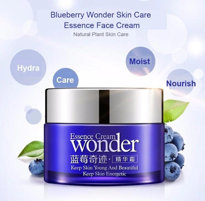 העור מתחיל להזדקן? יש לך קמטים  BIOAQUA WONDER  קרם יום אוכמניות וחומצה היאלורונית, מעולה, מבהיר כתמים, ממצק, מפחית ומונע קמטים
