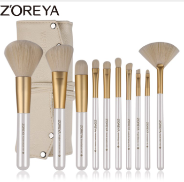 Gilmore Beauty - ZOREYA Premium Quality Makeup Brush With Beige Package Bag