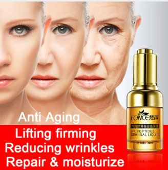 Gilmore Beauty - FONCE Skin Care Plant Argireline Anti Wrinkle Facial Serum Six Peptides Anti Aging Lifting