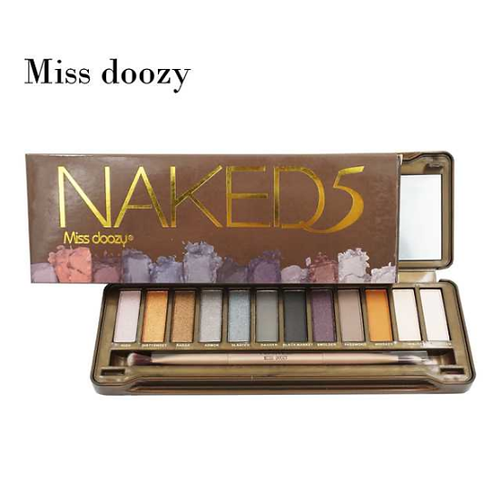 Gilmore Beauty - Miss Doozy Naked5 Pro Nude 12 Color Matte Shimmer Waterproof Brand Eyeshadow