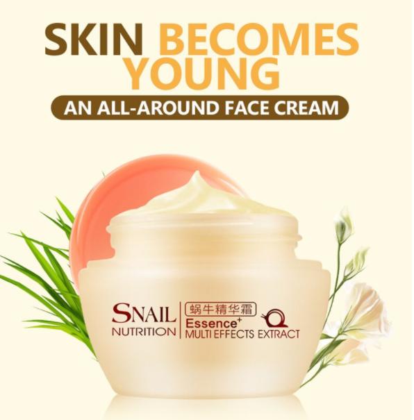 קרם פנים ליום מריר חלזונות אנטי אייג'ינג - LAIKOU  מעניק לחות, מכיל מוצרים טבעיים, מטפל בעור מצולק ומוכתם  משפר את בעיית הנקבוביות המוגדלות, עור מחוספס, הופך את העור עדין ורך, מכווץ נקבוביות ולהדק   אלסטין טבעי לאלסטיות של העור, ממצק.  מתאים לכל סוגי העור.