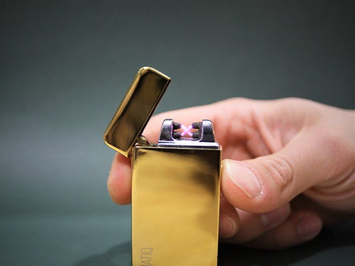 Golden Dual Arc Lighter