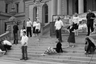 Arts Marathon on Michigan capitol steps