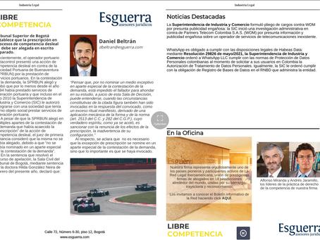 Esguerra Asesores Jurídicos en la Revista Industria Legal