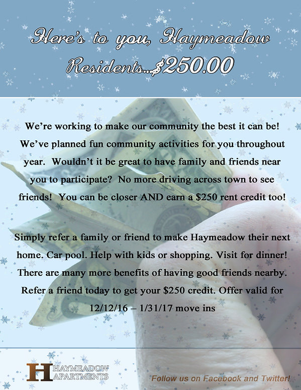 Love Living At Haymeadow Spread The Word And Get Paid   GRE