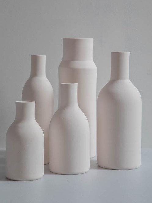 Conjunto de garrafas em porcelana