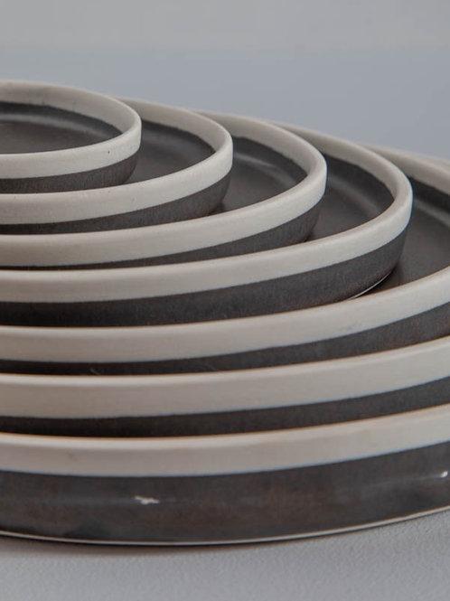 Conjunto de 7 travessas em cerâmica