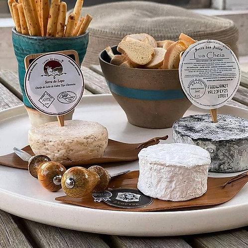 Bandeja redonda p/ queijos de 45cm
