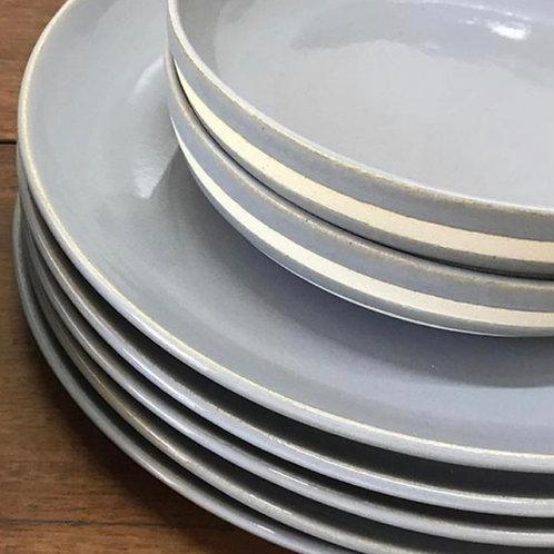 Pratos (raso + sobremesa + bowl aberto)
