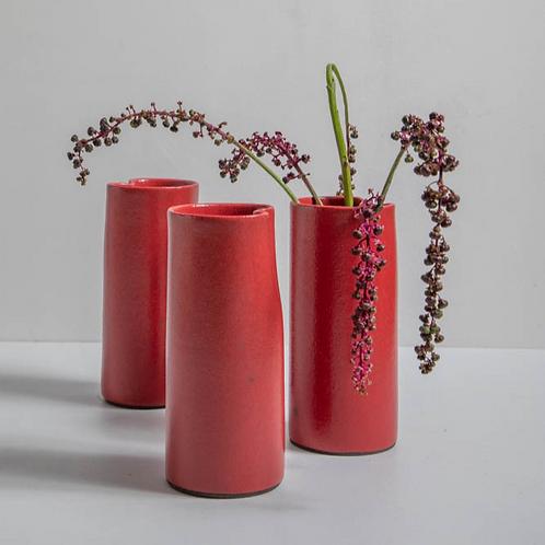 Vaso cilíndrico colorido