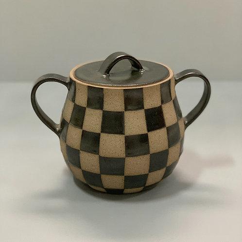 Panela xadrez em cerâmica