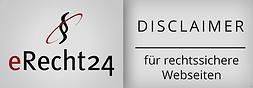 Zertifikat Disclaimer eRecht24