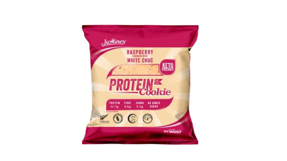 Justine's Protein Cookie Raspberry White Chocolate