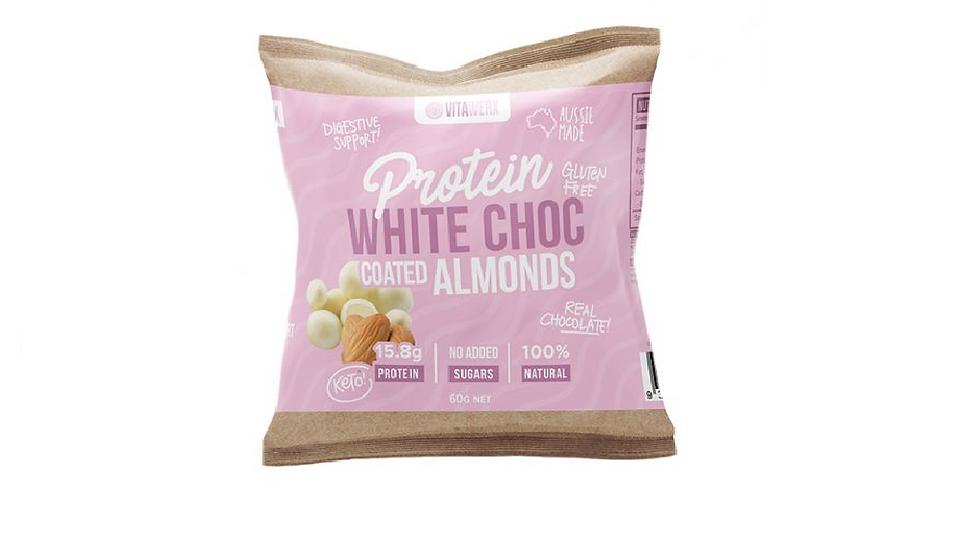 Vitawerx Protein White Chocolate Coated Almonds