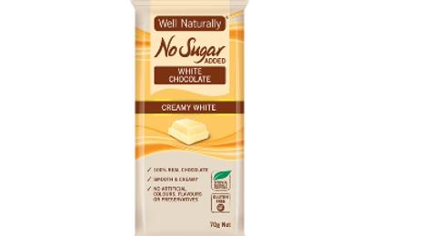 No sugar added CREAMY WHITE chocolate - Well Naturally