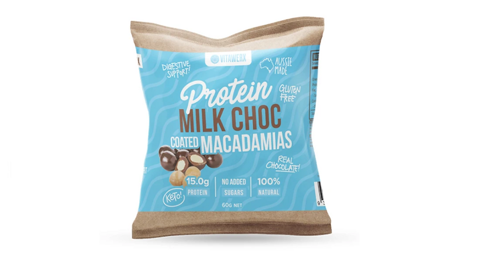 Vitawerx Protein Milk Chocolate Coated Macadamias