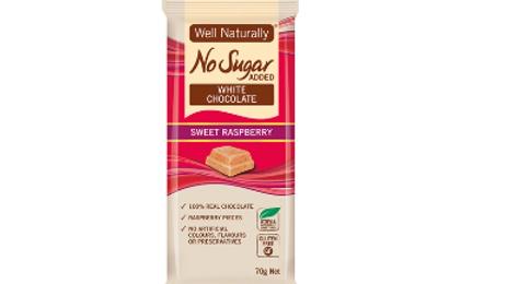 No sugar added SWEET RASPBERRY White Chocolate - Well Naturally
