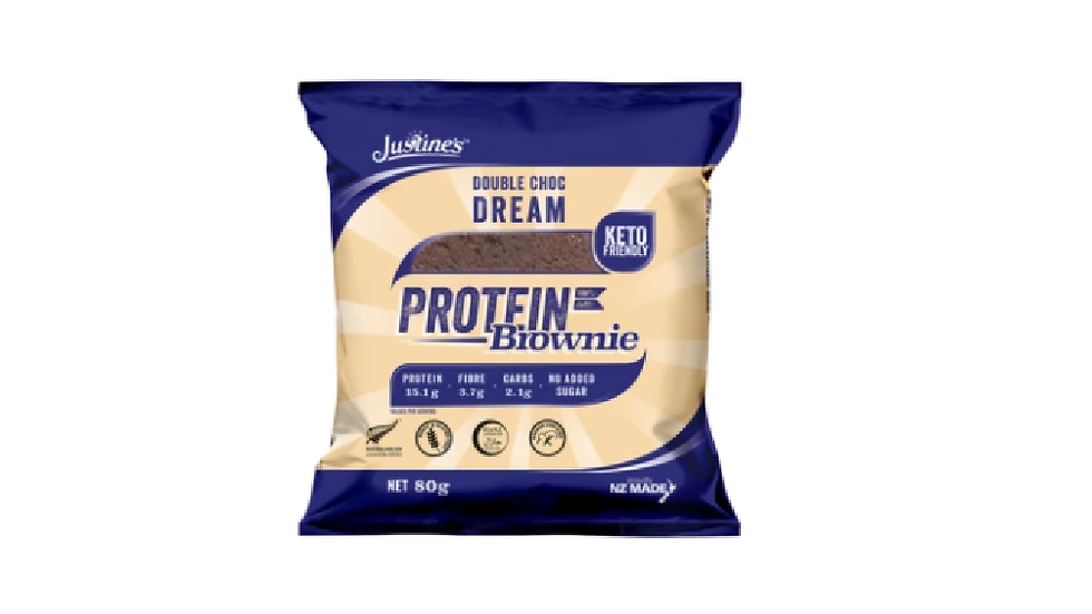 Justines Double Choc Dream Protein Brownie