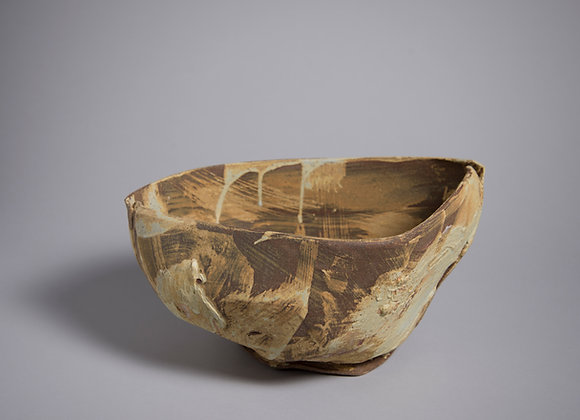 "Large stoneware bowl. 20"" x 9"