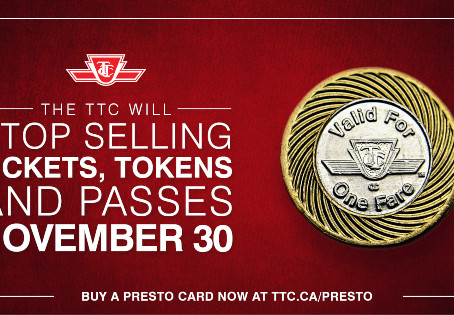 TTC to Stop Selling Tickets, Tokens, and Passes By The End of November