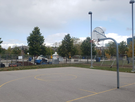 Work Continues on Community Basketball Courts
