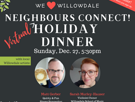 Celebrate the Holidays with We Love Willowdale