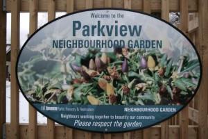 Parkview Neighbourhood Garden Is Growing