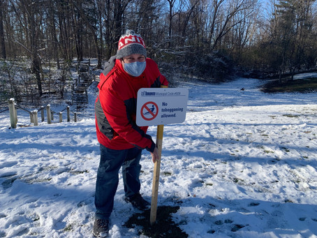 Tobogganing Saved for Willowdale Sledders