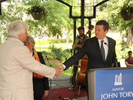 John Named as Toronto's Arts Advocate