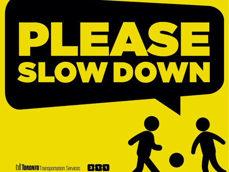 'Please Slow Down' Signs Available