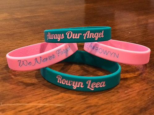 Teal and Pink Wristbands