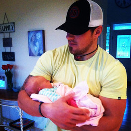 Baby Rowyn and her Uncle Braiden