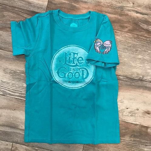 """Women's Green """"Life is Good"""" t-shirt"""
