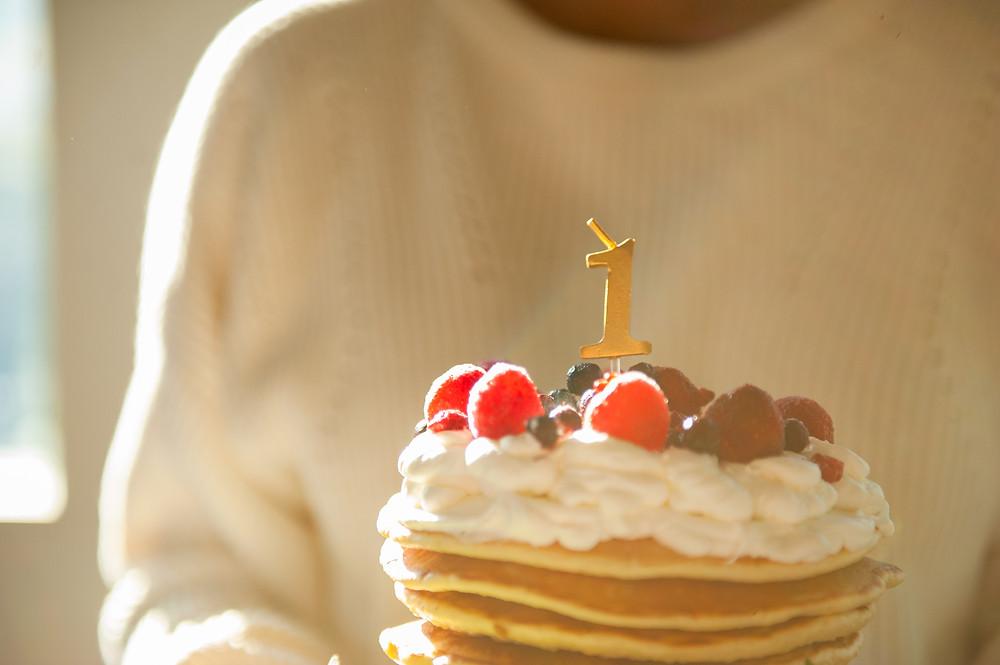 ママが作った誕生日ケーキ