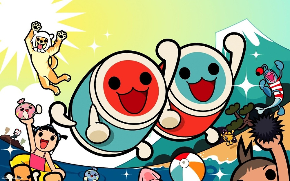Characters from the Taiko no Tatsujin game