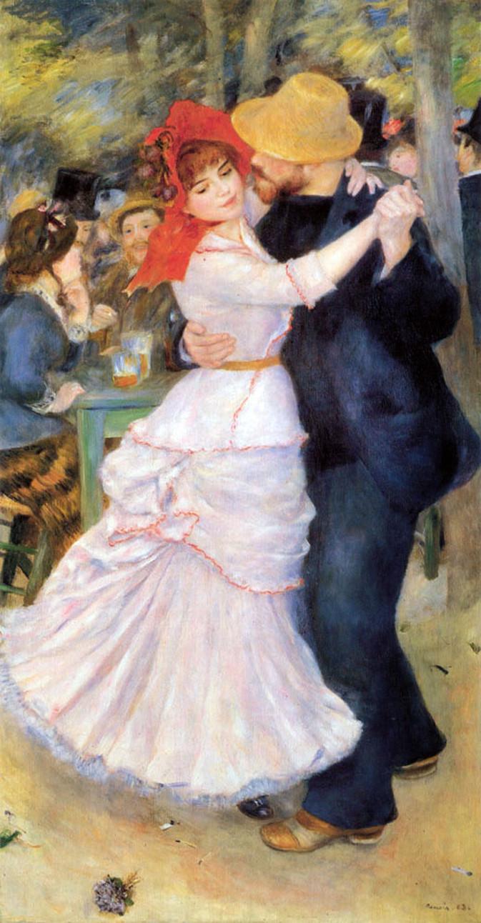 Pierre-Auguste Renoir's 1883 painting, Dance at Bouvigal