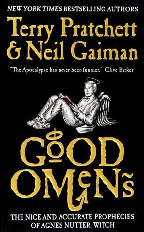 Good Omens Pratchett Gaiman cover with angel