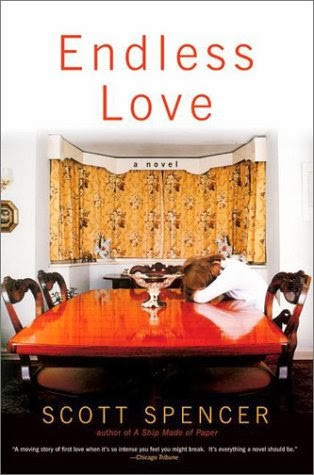 Endless Love cover depicting a woman at a table along, with her head down.