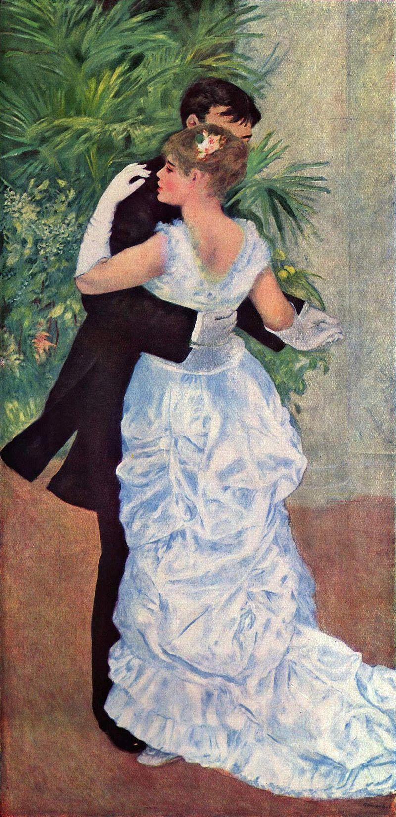 Pierre-Auguste Renoir's 1883 painting, Dance in the City